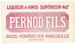 Buvard Pernod Fils, Liqueur D'anis Supérieure, Paris, Pontarlier, Marseille - Löschblätter, Heftumschläge