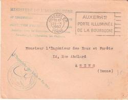 Yonne:- AUXERRE Franchise EAUX ET FORETS MINISTERE DE L'AGRICULTURE - Marcophilie (Lettres)