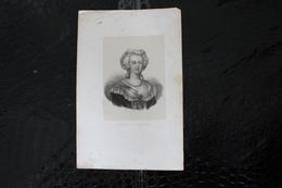 DH / Marie-Antoinette De Habsbourg, Née Le 2 Novembre 1755 à Vienne En Autriche Et Guillotiné à Paris En 1793 /16x24 Cm - Historische Dokumente