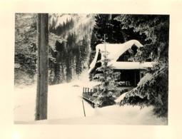MONTRIOND CHALET HOTEL BORD DU LAC  PHOTO ORIGINALE FORMAT  11 X 8.50 CM - Lugares
