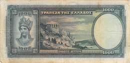1000 Drachmen Griechenland 1939 VG/G (IV) - Griechenland