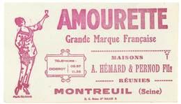Buvard Amourette, Maisons Hémard & Pernod Fils Réunies, Montreuil ( Post Absinthe ) - Vloeipapier