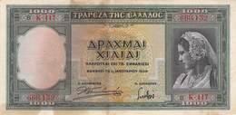 1000 Drachmen Griechenland 1939 AU/EF (II) - Griekenland