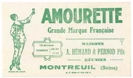 Buvard Amourette, Maisons Hémard & Pernod Fils Réunies, Montreuil ( Post Absinthe ) - Löschblätter, Heftumschläge