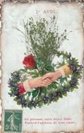 1ér Avril : Ajoutis Et Collage : Poignée De Mains Fleurie - 1 De April (pescado De Abril)