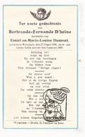 DP Bertrande Fernande D'Hoine / Dumont ° Wijtschate Heuvelland 1938 † 1939 - Images Religieuses