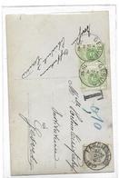 Belg.taxes.N°81 FARCIENNES 27.II.1912 S/CP V.GESVES.TTX 3(2)C1C Gesves 28.ii.Très Bon Bureau.TB - Taxes