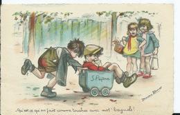CARTE FANTAISIE - Illustration GERMAINE BOURET - Qu'est Ce Qu'on Fait Comme Touches - Bouret, Germaine