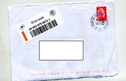 Lettre Suivie Cachet Saint Brice - Postmark Collection (Covers)