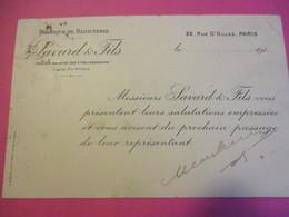 Carte Postale/ Fabrique De Bijouterie/ Savard & Fils/ Bijoux FIX / Paris/ Vers 1910          CAC138 - Altri