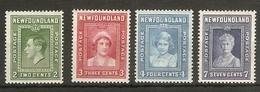 NEWFOUNDLAND  1938 SET SG 268/271 LIGHTLY MOUNTED MINT Cat £11 - 1908-1947