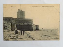 C. P. A. : 17 FOURAS : La Tour Des Signaux Et La Plage à Marée Montante, Animé - Fouras-les-Bains