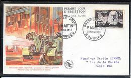 FDC 1955 - 1016  Inventeurs S Célèbres: Pierre Martin - FDC