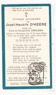 DP Jozef Hendrik D'Heere / Roelens ° Wijtschate Heuvelland 1927 † 1931 - Images Religieuses