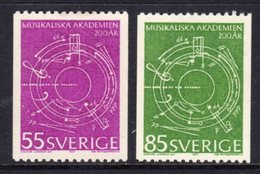 SWEDEN - 1971 MUSIC ANNIVERSARY SET (2V) FINE MNH ** SG 650-651 - Music