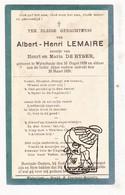 DP Albert H. Lemaire / De Byser ° Wijtschate Heuvelland 1928 † 1929 - Images Religieuses
