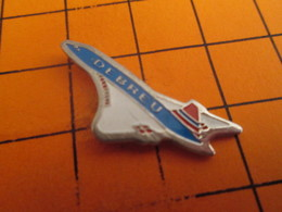 815b Pins Pin's / Rare & Belle Qualité  THEME AVIATION / AVION BAC AEROSPACE CONCORDE MARQUé DEBREU - Avions