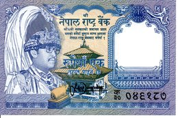 NEPAL - Billet RE.1 Rupees -  Antilope Animal  TBE - Nepal