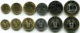 Kazakhstan - Set 6 Coins 1 5 10 20 50 100 Tenge 2019 UNC Lemberg-Zp - Kazajstán