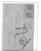 """P-B. N°19(2) Obl.POINTS 22 /DELFT 12 OCT 72 S/LAC Vers La France-GRIFFE ONTOEREIKEND.TAXEE""""4""""+div.Càd Au Dos.M. - Lettres & Documents"""