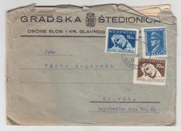Croatia WWII NDH Gradska Štedionica Zagreb Company Letter Cover Travelled 1944 B190610 - Croatia
