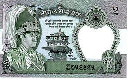 NEPAL - Billet 2 Rupees - Guepard  Jungle Félin Animal  TBE - Népal