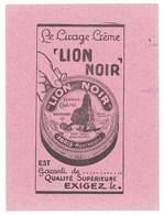 Buvard Cirage Crème Lion Noir , Paris-Montrouge - Vloeipapier