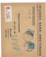 P-B. N°172-180 AMSTERDAM 14.IV.26 S/lettre RECOMMANDEE V.Schaerbeek/Bruxelles.TB - 1891-1948 (Wilhelmine)