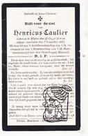 DP Henricus Caulier ° Watou Poperinge 1834 † 1915 - Images Religieuses