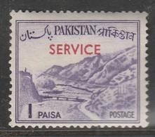 "Pakistan 1961-1963 Local Motives - Pakistan Postage Stamp Of 1963 Overprinted ""SERVICE"" 1 P Violet SW 78 * MM - Pakistan"