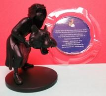 Tintin : Figurine Abdallah Monochrome Noir Mat De 9 Cm De Hauteur ( Voir Photos ). - Tintin