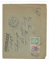 P-B. N°56-59 ROTTERDAM 11.8.18 S/l EXPRES Censurée ( Emmerich) V.ANVERS.TB - 1891-1948 (Wilhelmine)
