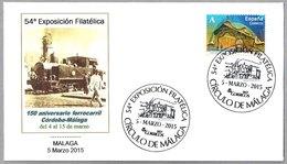 150 Años FERROCARRIL CORDOBA - MALAGA. 150 Years Railroad. Malaga, Andalucia, 2015 - Trains