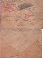 1916 Enveloppe Cachet Marine Française. A Bord Du Sous-Marin Nivose. Dunkerque. Nord - Marcophilie (Lettres)