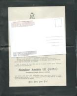 Civray 86 -F.P. Décès De M Amédée Le Quinio Percepteur , Le 14/02/1905     -   Mald 6513 - Obituary Notices