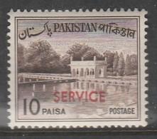 "Pakistan 1961-1963 Local Motives - Pakistan Postage Stamp Of 1963 Overprinted ""SERVICE"" 10 P Brown SW 83 * MM - Pakistan"