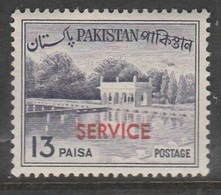"Pakistan 1961-1963 Local Motives - Pakistan Postage Stamp Of 1963 Overprinted ""SERVICE"" 13 P Violet SW 84 * MM - Pakistan"