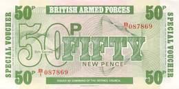 Fifty Pound Britisch Armed Forces Banknote Großbritanien UNC - Forze Armate Britanniche & Docuementi Speciali