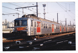 PHOTO Originale Train Wagon Rame Banlieue Inox SNCF N°325 Non Datée - Treinen