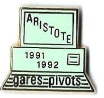 VOYAGEURS - V256 - ARISTOTE - GARES PIVOTS - Verso : METARGENT - TGV