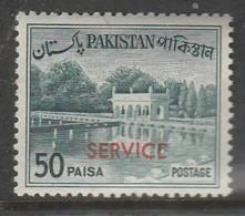 "Pakistan 1961-1963 Local Motives -Pakistan Postage Stamp Of 1963 Overprinted ""SERVICE"" 50 P Dark Bluish Green SW 86 * MM - Pakistan"