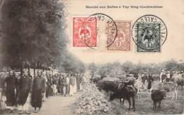 Vietnam - Marché Aux Bufles à Tay Ning Cochinchine (indochine) (cad Nouvelle Calédonie) - Vietnam