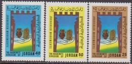 Giordania Jordan 1982 ** Mi.1169/71 Antichi Reperti Archeologia Archaeology - Giordania