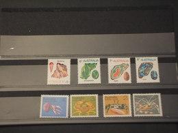AUSTRALIA - 1973 FAUNA MARINA/MINERALI 8 VALORI - NUOVI(++) - 1966-79 Elizabeth II