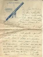 """4086 """"AURORA-MODELLO ARA 4 A RIEMPIMENTO AUTOMATICO-1921 - FOGLIO DI BLOC-NOTES  """"  ORIGINALE - Italy"""