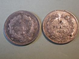 Quart (1/4) De Franc1835A &1843B  (louis Philippe) - Autres