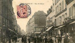 75  PARIS 11e AR   RUE  SAINT MAUR ANIMEE - Paris (11)