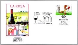 12 MESES - 12 SELLOS - LA RIOJA - Vino - Año Jubilar Calceatense - Wine. SPD/FDC Logroño 2019 - Vinos Y Alcoholes