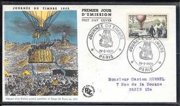 FDC 1955 - 1018 Journée Du Timbre & 85ème Anniversaire De La Poste Aérienne - 1950-1959