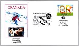 12 MESES - 12 SELLOS - GRANADA - Deportes De Invierno - Guitarra. SPD/FDC Granada, Andalucia, 2019 - Vinos Y Alcoholes